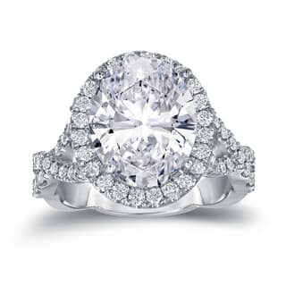 Auriya Platinum 5 3/4ct TDW Certified Oval Diamond Halo Engagement Ring|https://ak1.ostkcdn.com/images/products/13404469/P20100041.jpg?impolicy=medium