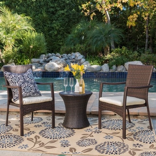Christopher Knight Home Corsica Outdoor 3-piece Wicker Chat Set with Cushions