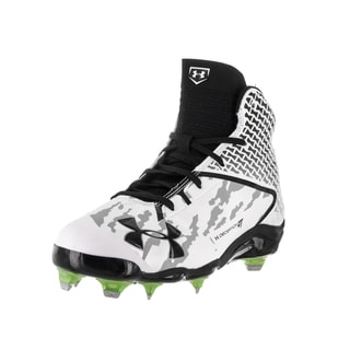 Under Armour Men's UA Deception White and Black Fabric Baseball Cleats