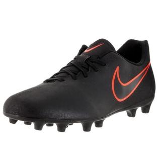 Nike Men's Magista Ola II Black and Total Crimson Fabric Soccer Cleats