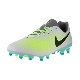 Nike Men's Magista Onda II Pure Platinum, Black, Ghost Green, and Hyper Turquoise Fabric Soccer Cleats