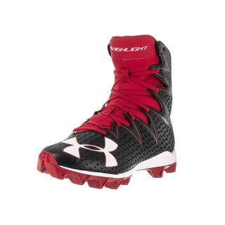 Under Armour Kids' UA Highlight RM Jr. Black and Red Synthetic Football Cleats