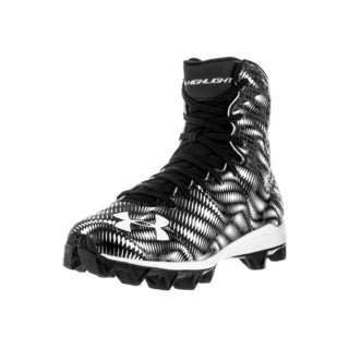 Under Armour Kid's UA Highlight RM Jr. Black/White Plastic Football Cleats