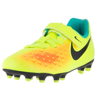 Nike Kids' Jr. Magista Ola II Volt Yellow, Black, Total Orange, and Clear Jade Synthetic Soccer Cleats