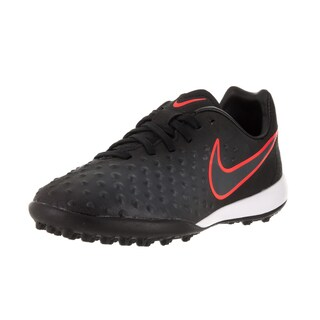 Nike Kids' Jr. Magistax Opus II Tf Black/Black Total Crimson Turf Soccer Shoe