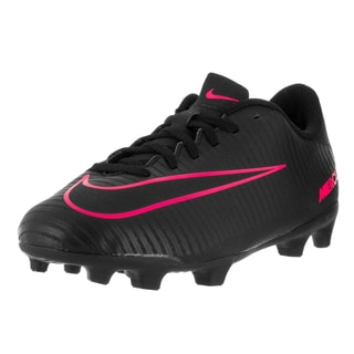 Nike Kids Jr Mercurial Vortex III Black Pink Blast Synthetic Soccer Cleat