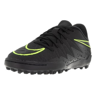 Nike Kids Jr Hypervenom Phelon II Black Synthetic Volt Turf Soccer Shoe