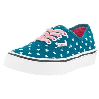 Vans Kids' Authentic Plus Seaport, Candy Pink Canvas Skate Shoe
