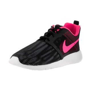 Nike Kids Roshe One Flight Weight Black/Pink Blast White Running Shoe