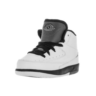 Nike Jordan Toddlers' Jordan 2 Retro Bp White, Black, Dark Grey Leather Basketball Shoe