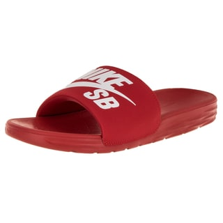 Nike Men's Benassi Solarsot SB University Red and White Sandals