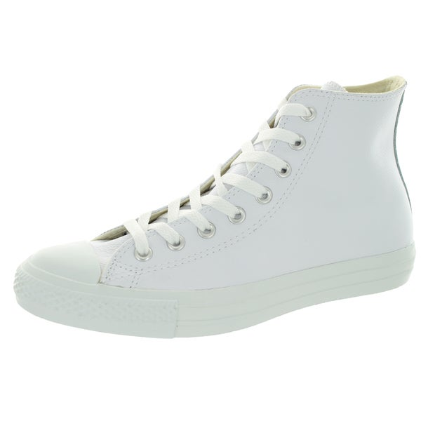 3479e4864442dd Converse Men  x27 s All Star Chuck Taylor Leather Hi White Basketball Shoe