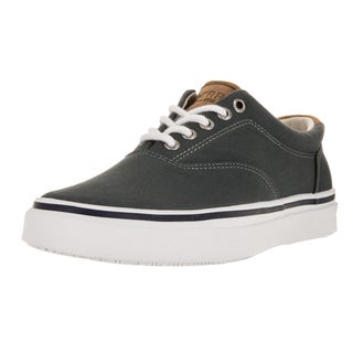 Sperry Top-Sider Men's Striper Grey/White Canvas Casual Shoes