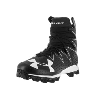 Under Armour Men's UA Highlight Black and White Fabric Football Cleats