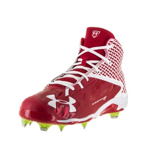 Under Armour Men's UA Deception Red Fabric Baseball Cleats