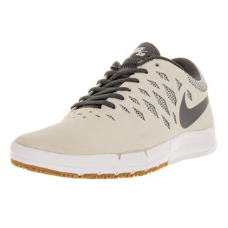 Nike Men's Free SB Sail Beige and Charcoal Suede Skate Shoes
