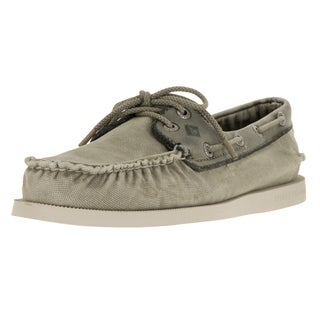 Sperry Men's Top-Sider Olive Textile Wedge Boat Shoes