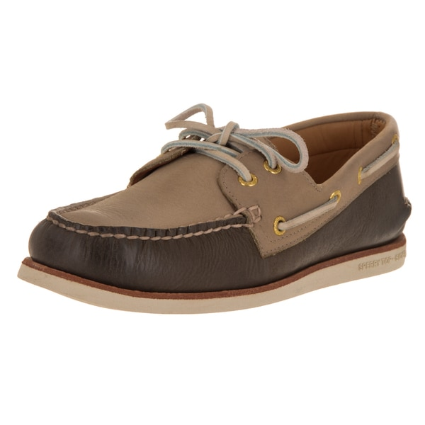 Shop Sperry Top Sider Men S Gold Authentic Wedge Brown