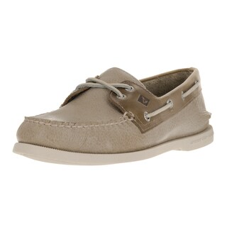 Sperry Top-Sider Men's Authentic Original 2-Eye Cross Lace Tan Leather Boat Shoe