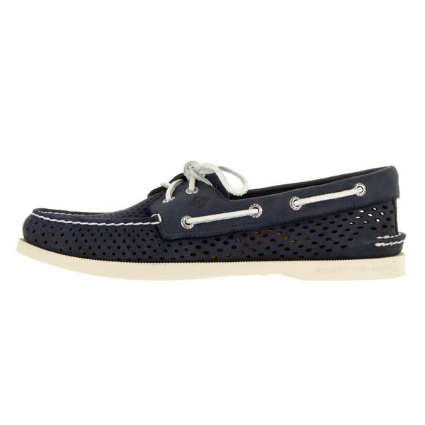 sperry perforated boat shoe mens