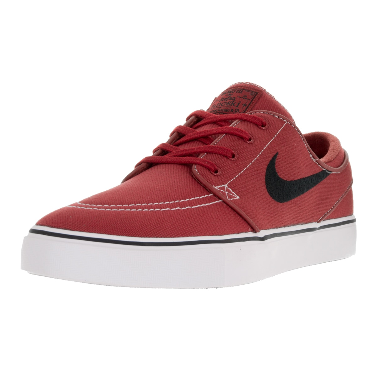 Nike Men's Zoom Stefan Janoski Red Canvas Skate Shoe (As ...