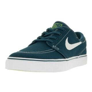 Nike Men's Zoom Stefan Janoski Midnight Turq/White/Volt/White Canvas Skate Shoes