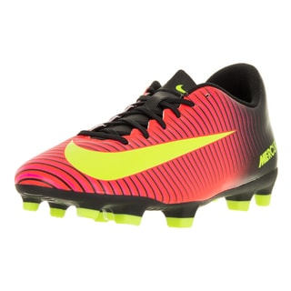 Nike Men's Mercurial Vortex III FG Total Crimson/Volt Black/Pink Blast Size 10.5 Soccer Cleat