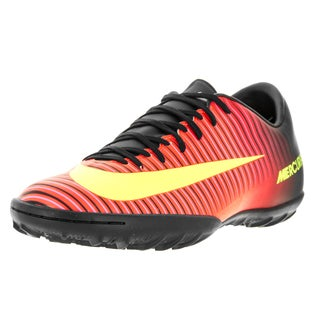 Nike Men's Mercurialx Victory VI TF Total Crimson/Volt Yellow/Black/Pink Blast Turf Soccer Shoe