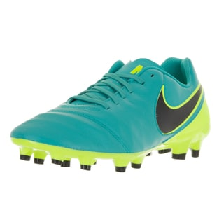 Nike Men's Tiempo Genio II Clear Jade and Black Volt Leather Soccer Cleats