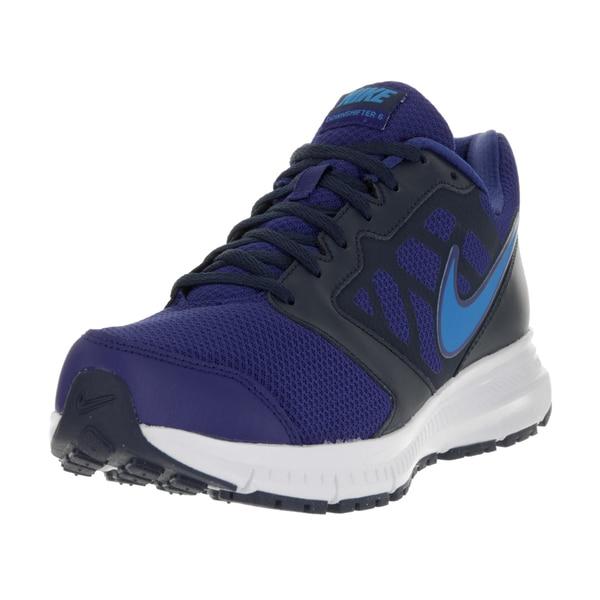 5e818479d0946 Shop Nike Men s Downshifter 6 Blue Fabric Running Shoes - Ships To ...