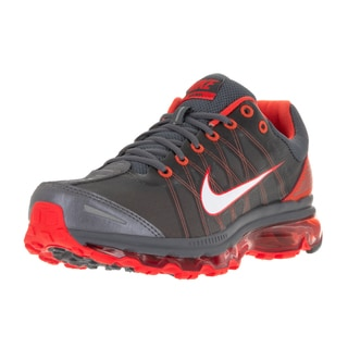 Nike Men's Air Max 2009 Dark Grey/White/Vivid Orange Fabric Running Shoe
