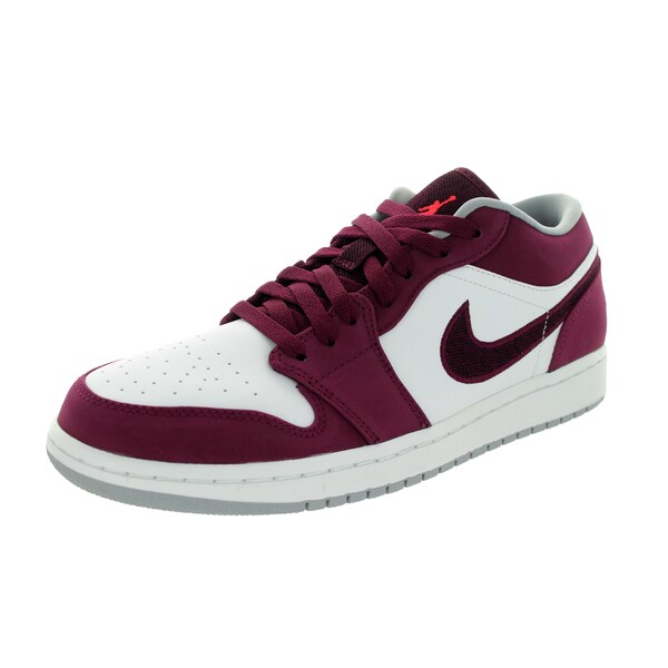 35c41949dd2776 Shop Nike Jordan Men s  Air Jordan 1 Low  Bordeaux