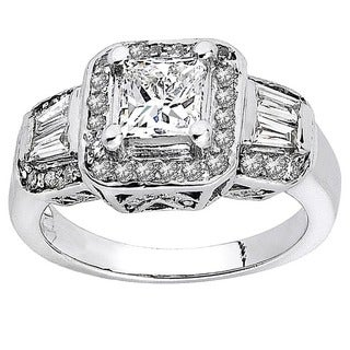 14k White Gold 1/2ct TDW Diamond Semi Mount Engagement Ring (H-I, I1-I2)