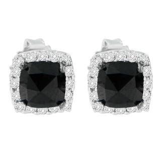 14K White Gold 2 ct. TDW Round and Rose-Cut Black Diamond Stud Earrings (H-I, I2-I3)|https://ak1.ostkcdn.com/images/products/13408315/P20103242.jpg?impolicy=medium