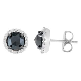 14K White Gold 3 ct. TDW Round and Rose-Cut Black Diamond Stud Earrings (H-I, I2-I3)|https://ak1.ostkcdn.com/images/products/13408316/P20103243.jpg?impolicy=medium