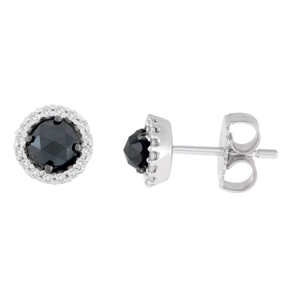 eb0ddc546 Shop 14K White Gold 3/4 ct. TDW Round and Rose-Cut Black Diamond ...