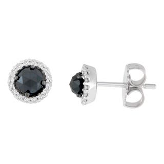 14K White Gold 3/4 ct. TDW Round and Rose-Cut Black Diamond Stud Earrings (H-I, I2-I3)|https://ak1.ostkcdn.com/images/products/13408323/P20103250.jpg?impolicy=medium