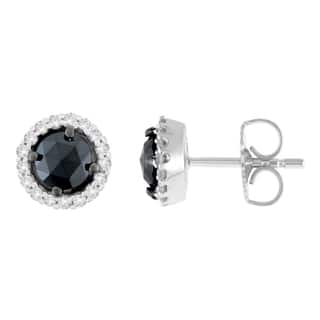14K White Gold 1 ct. TDW Round and Rose-Cut Black Diamond Stud Earrings (H-I, I2-I3)|https://ak1.ostkcdn.com/images/products/13408326/P20103252.jpg?impolicy=medium