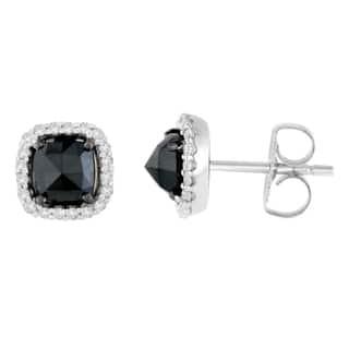 14K White Gold 1 3/8 ct. TDW Round and Rose-Cut Black Diamond Stud Earrings (H-I, I2-I3)|https://ak1.ostkcdn.com/images/products/13408338/P20103257.jpg?impolicy=medium
