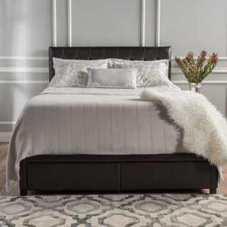 Christopher Knight Home Austin Tufted Bonded Leather California King Bed Set with Drawers