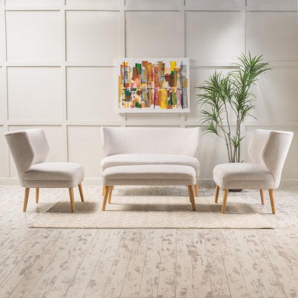 Shop Desdemona 4-piece Fabric Living Room Sofa Set By