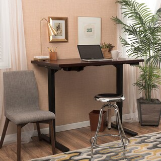Adams 58-inch Acacia Wood Desk with Adjustable Height and Dual Powered Base by Christopher Knight Home