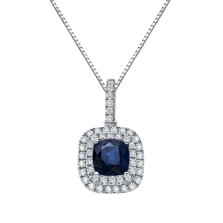3Ct Emerald Cut Morganite Double Halo Pendant Necklace 14k Rose Gold Finish