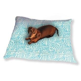 Zebra Aqua Dog Pillow Luxury Dog / Cat Pet Bed