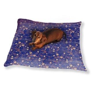 Natashas Enchanted Garden Blue Dog Pillow Luxury Dog / Cat Pet Bed