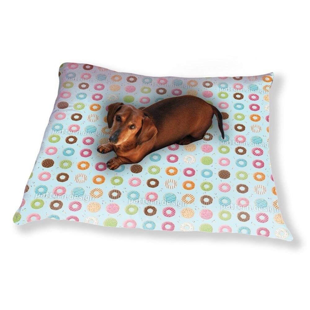 Uneekee Doughnut Variations Dog Pillow Luxury Dog / Cat P...