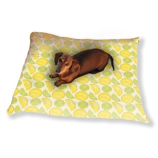 Lemon Or Lime Dog Pillow Luxury Dog / Cat Pet Bed