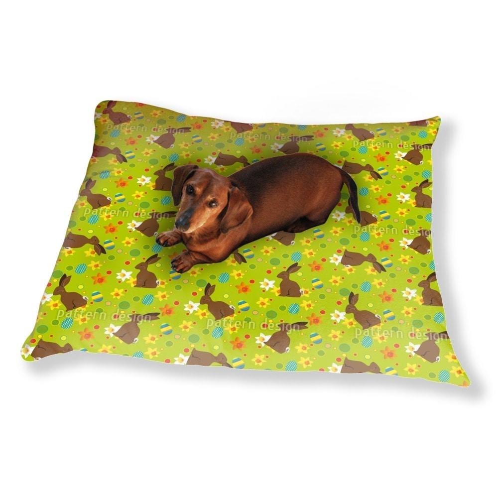 Uneekee Easter Bunny Green Dog Pillow Luxury Dog / Cat Pe...