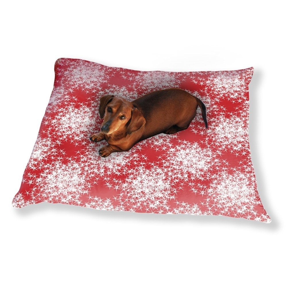 Uneekee Stars Sparkle On Red Dog Pillow Luxury Dog / Cat ...