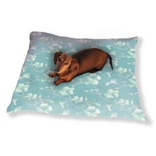 Pastel Hibiscus Dog Pillow Luxury Dog / Cat Pet Bed